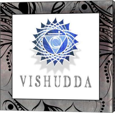 Metaverse Art Chakras Yoga Framed Vishudda V1 Canvas Wall Art
