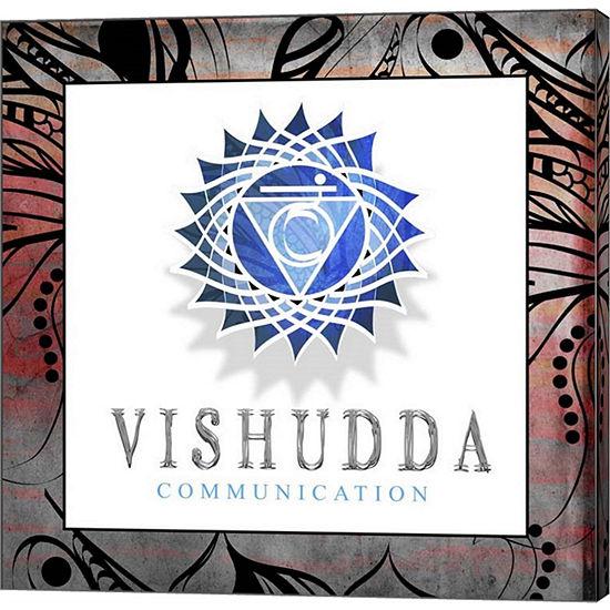 Metaverse Art Chakras Yoga Framed Vishudda V2 Canvas Wall Art