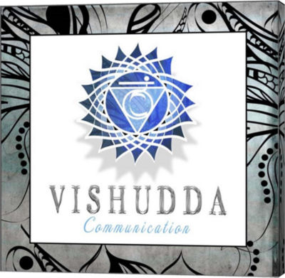 Metaverse Art Chakras Yoga Framed Visudda V3 Canvas Wall Art