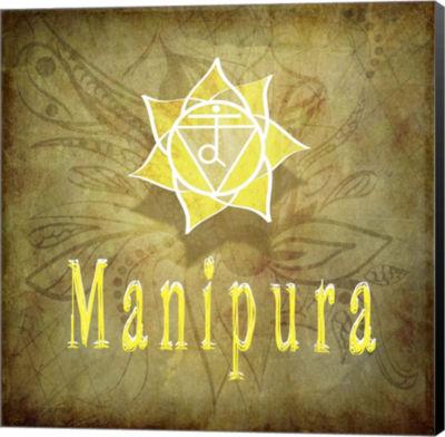 Metaverse Art Chakras Yoga Manipura V1 Canvas WallArt