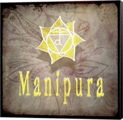 Metaverse Art Chakras Yoga Manipura V2 Canvas WallArt