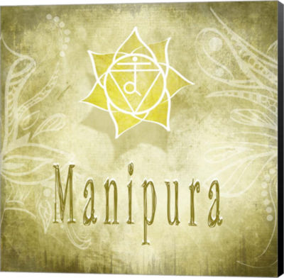 Metaverse Art Chakras Yoga Manipura V3 Canvas WallArt