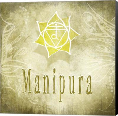 Metaverse Art Chakras Yoga Manipura V4 Canvas WallArt
