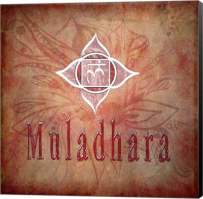 Metaverse Art Chakras Yoga Muladhara V1 Canvas Wall Art