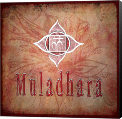 Metaverse Art Chakras Yoga Muladhara V2 Canvas Wall Art