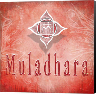 Metaverse Art Chakras Yoga Muladhara V3 Canvas Wall Art