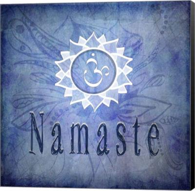 Metaverse Art Chakras Yoga Namaste V1 Canvas WallArt