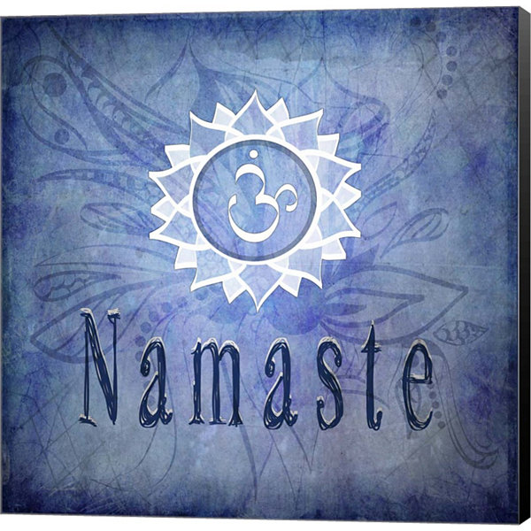 Metaverse Art Chakras Yoga Namaste V1 Canvas WallArt
