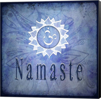 Metaverse Art Chakras Yoga Namaste V2 Canvas WallArt