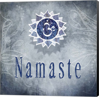 Metaverse Art Chakras Yoga Namaste V3 Canvas WallArt