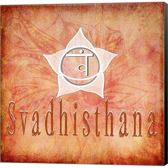 Metaverse Art Chakras Yoga Svadhisthana V1 CanvasWall Art