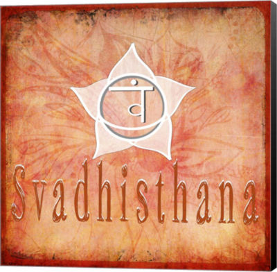 Metaverse Art Chakras Yoga Svadhisthana V2 CanvasWall Art