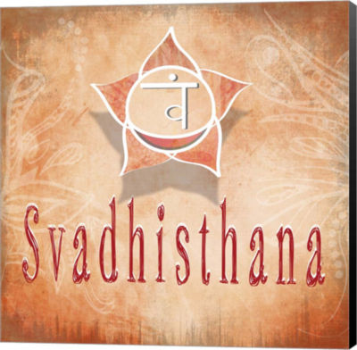 Metaverse Art Chakras Yoga Svadhisthana V3 CanvasWall Art