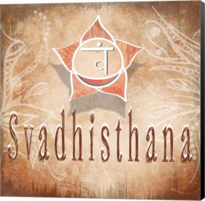 Metaverse Art Chakras Yoga Svadhisthana V4 CanvasWall Art