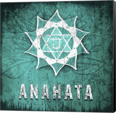 Metaverse Art Chakras Yoga Symbol Anahata Canvas Wall Art