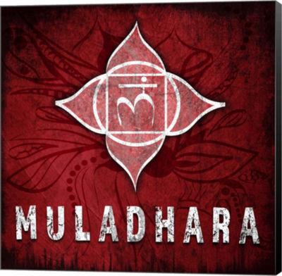 Metaverse Art Chakras Yoga Symbol Muladhara CanvasWall Art