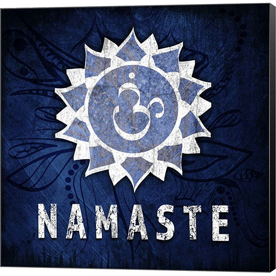Metaverse Art Chakras Yoga Symbol Namaste Canvas Wall Art