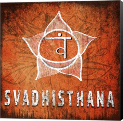 Metaverse Art Chakras Yoga Symbol Svadhisthana Canvas Wall Art