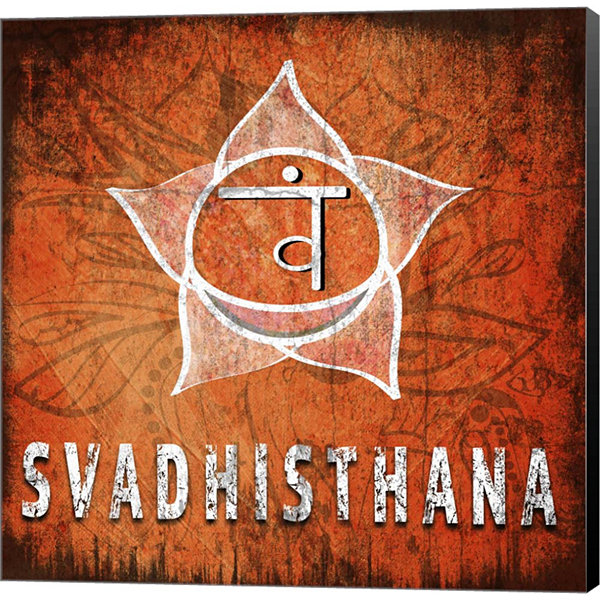 Metaverse Art Chakras Yoga Symbol Svadhisthana Canvas Wall Art