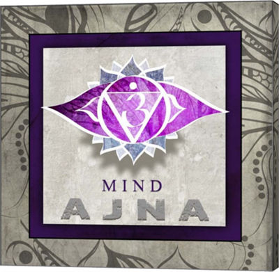 Metaverse Art Chakras Yoga Tile AJNA V1 Canvas Wall Art