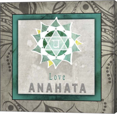 Metaverse Art Chakras Yoga Tile Anahata V1 CanvasWall Art