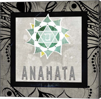 Metaverse Art Chakras Yoga Tile Anahata V2 CanvasWall Art