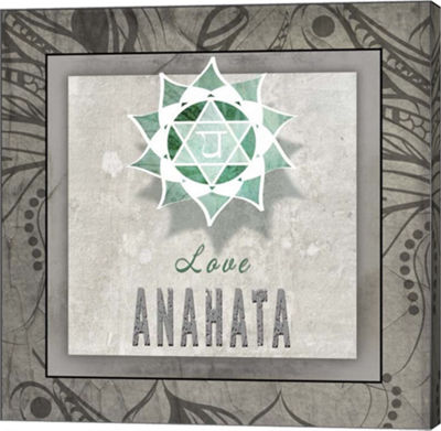 Metaverse Art Chakras Yoga Tile Anahata V3 CanvasWall Art