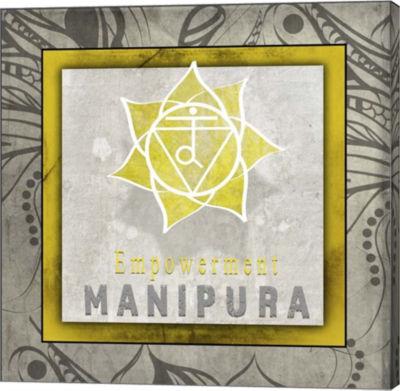 Metaverse Art Chakras Yoga Tile Manipura V1 CanvasWall Art