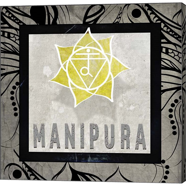 Metaverse Art Chakras Yoga Tile Manipura V2 CanvasWall Art