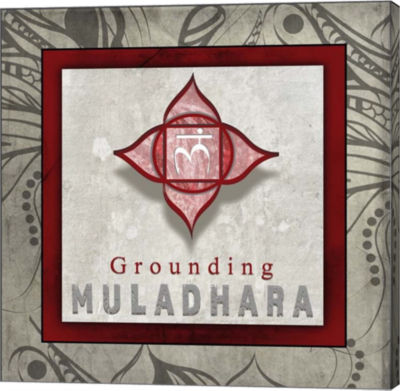 Metaverse Art Chakras Yoga Tile Muladhara V1 Canvas Wall Art
