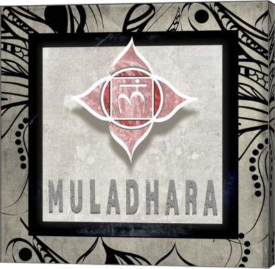 Metaverse Art Chakras Yoga Tile Muladhara V2 Canvas Wall Art