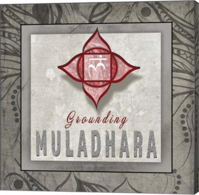 Metaverse Art Chakras Yoga Tile Muladhara V3 Canvas Wall Art