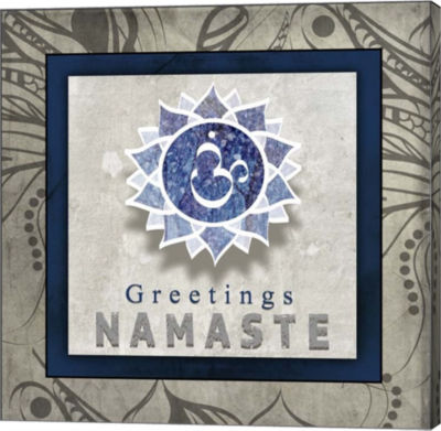 Metaverse Art Chakras Yoga Tile Namaste V1 CanvasWall Art