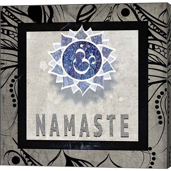 Metaverse Art Chakras Yoga Tile Namaste V2 CanvasWall Art