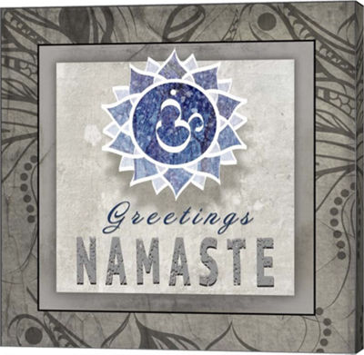 Metaverse Art Chakras Yoga Tile Namaste V3 CanvasWall Art