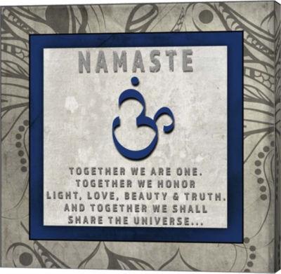 Metaverse Art Chakras Yoga Tile Namaste V4 CanvasWall Art