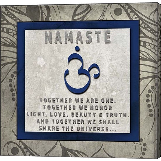 Metaverse Art Chakras Yoga Tile Namaste V4 CanvasWall Art
