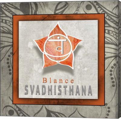 Metaverse Art Chakras Yoga Tile Svadhisthana V1 Canvas Wall Art