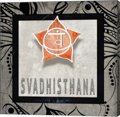 Metaverse Art Chakras Yoga Tile Svadhisthana V2 Canvas Wall Art