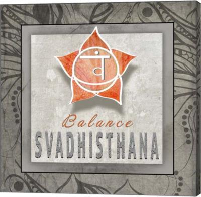 Metaverse Art Chakras Yoga Tile Svadhisthana V3 Canvas Wall Art