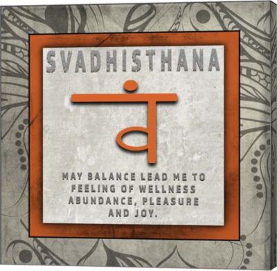 Metaverse Art Chakras Yoga Tile Svadhisthana V4 Canvas Wall Art