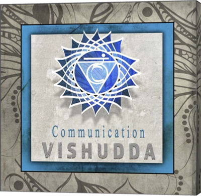 Metaverse Art Chakras Yoga Tile Vishudda V1 Canvas Wall Art