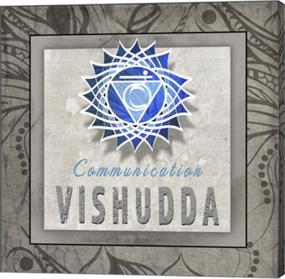 Metaverse Art Chakras Yoga Tile Vishudda V3 Canvas Wall Art