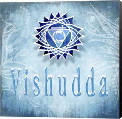 Metaverse Art Chakras Yoga Vishudda V3 Canvas WallArt