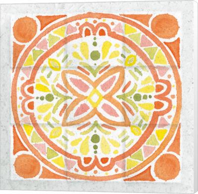Metaverse Art Citrus Tile I Canvas Wall Art