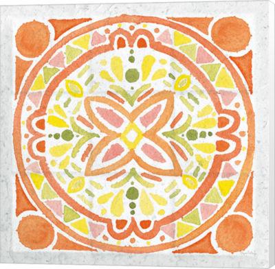 Metaverse Art Citrus Tile I v2 Canvas Wall Art
