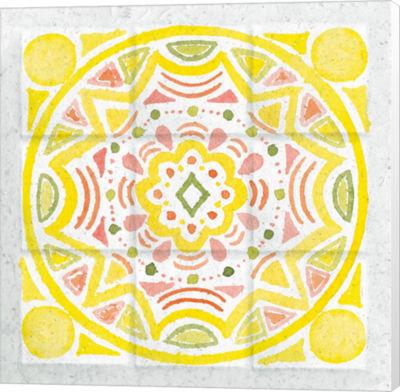 Metaverse Art Citrus Tile II Canvas Wall Art