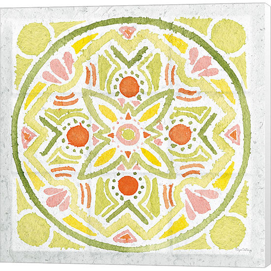 Metaverse Art Citrus Tile III v2 Canvas Wall Art
