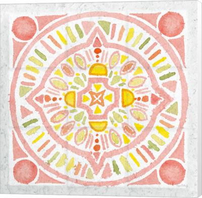 Metaverse Art Citrus Tile IV v2 Canvas Wall Art