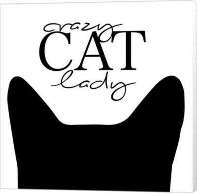 Metaverse Art Crazy Cat Lady Canvas Wall Art